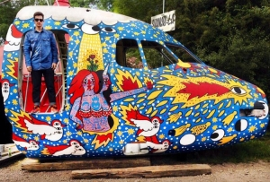 Airplane for Glastonbury Festival