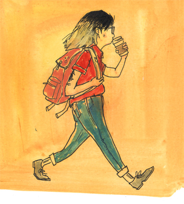 selfportrait walkingwithcoffee