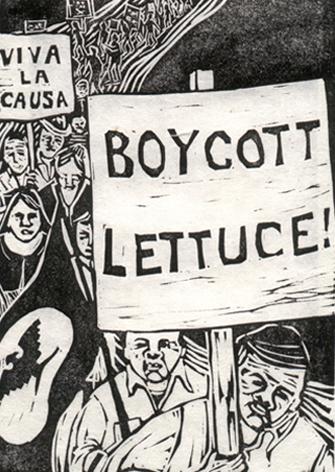 """BOYCOTT LETTUCE"" 1972 - Susan Due Pearcy"
