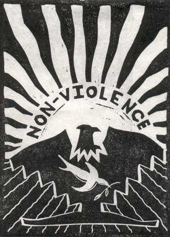"""NON-VIOLENCE"" 1973 - Susan Due Pearcy"