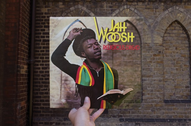 Jah Woosh, Religious Dread (Trojan, 1978), rephotographed at the Parish Church of Saint John the Evangelist, Kensal Green, London W10, 38 years later.