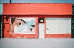 A photo of the outside of HVW8 Gallery in Los Angeles.
